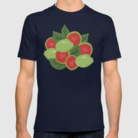 Guava Mens Fitted Tee Navy SMALL