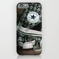 iPhone & iPod Case featuring Worn Out Chucks by Deesign