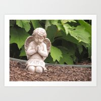 Praying Angel- Faith Art Print