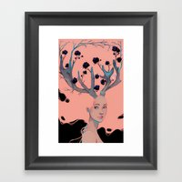 Lady Cornue. Framed Art Print