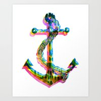 CMYK Anchor Art Print