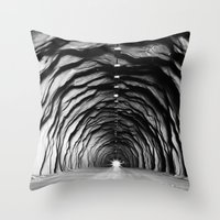 End of the tunnel Throw Pillow