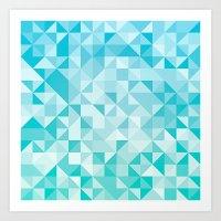 Pattern #28 - Sea Art Print