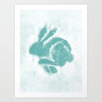 Snowbunny Art Print