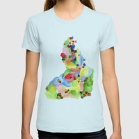 Jester #1 Womens Fitted Tee Light Blue SMALL