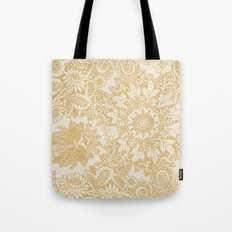 Floral in Yellow Tote Bag