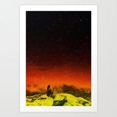 Burning Hill Art Print