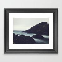 Oregon Coast Ocean Framed Art Print
