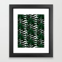 Green tropical Framed Art Print