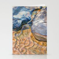 Abstract beautiful rocks on the sand Stationery Cards