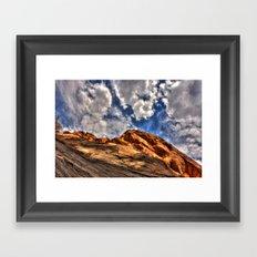 Blue and Orange Framed Art Print