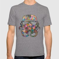Stormtrooper Galaxy Mens Fitted Tee Tri-Grey SMALL