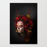 Crimson Havest Muertita Canvas Print