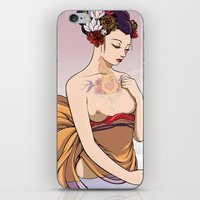 Koi Amongst The Lotuses  iPhone & iPod Skin