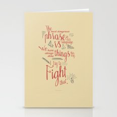 Grace Hopper sentence - I always try to Fight That - Color version Stationery Cards