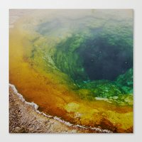 Morning Glory Pool Canvas Print