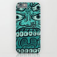 iPhone & iPod Case featuring KEEP IT KREEPY by SINDY SINN