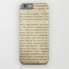 Pride and Prejudice  Vintage Mr. Darcy Proposal by Jane Austen   Slim Case iPhone 6s