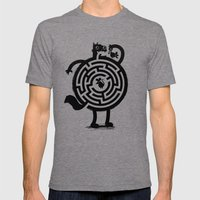 Amazin' Cat Mens Fitted Tee Tri-Grey SMALL