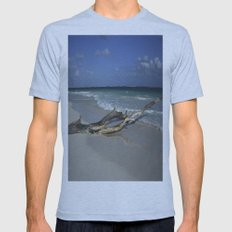 Carribean sea 14 Mens Fitted Tee Athletic Blue SMALL