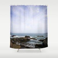 Acadia View - Ocean Scen… Shower Curtain