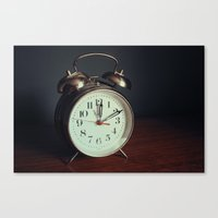 Ticking Clock Canvas Print