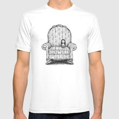 Big Chair White SMALL Mens Fitted Tee