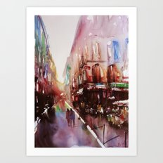Paris atmospheric #3 Art Print