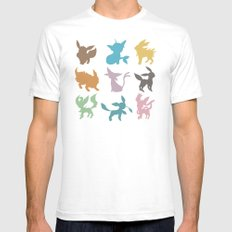 Eeveelution Mens Fitted Tee White SMALL