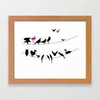 Best Bird Buddies Framed Art Print