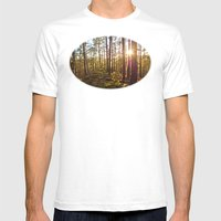 Evening In The Forest Mens Fitted Tee White SMALL