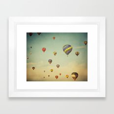 Floating in Space Framed Art Print