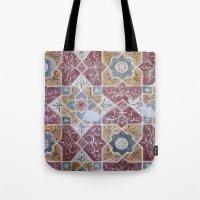 Geometric Wall Pattern Tote Bag