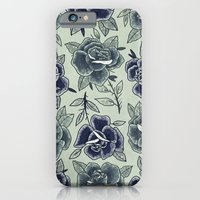 Dozen Roses - Blue iPhone 6 Slim Case