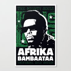 The Mighty Souls: Afrika Bambaataa Canvas Print