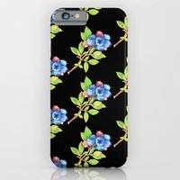 Wild Maine Blueberries Allover Print iPhone 6 Slim Case