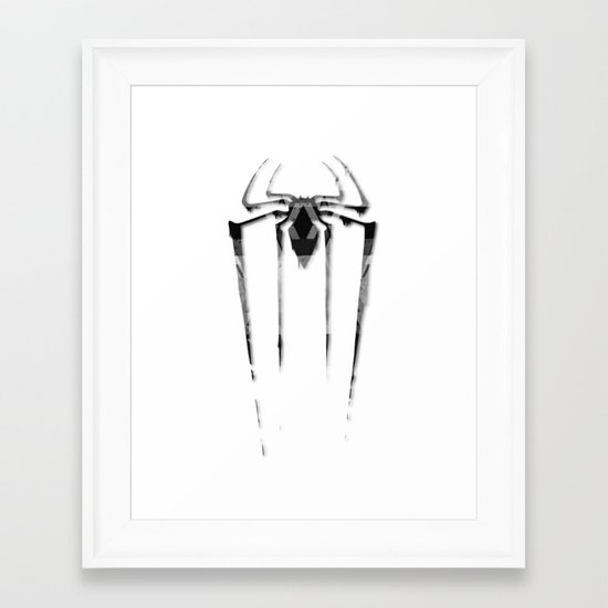 Amazing Spiderman B/W Framed Art Print