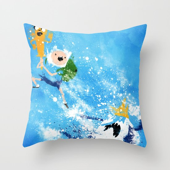 Battle Time!! Throw Pillow