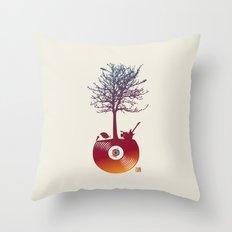Vinyl Tree 2 Throw Pillow