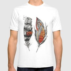 Sunset Feathers Mens Fitted Tee White SMALL