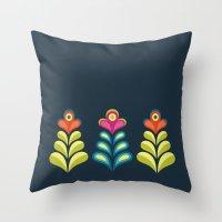 Betty's Garden Throw Pillow