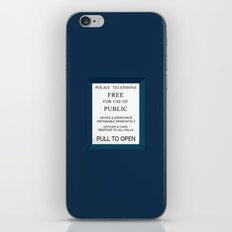 Doctor Who (Tardis Door) Police Box iPhone & iPod Skin