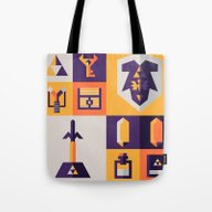 Tote Bag featuring Legend Of Zelda Items by Ann Van Haeken