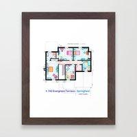 The house of Simpson family - First floor Framed Art Print