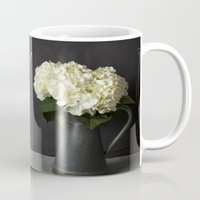 With God All Things Are Possible - Hydrangea Flower Mug