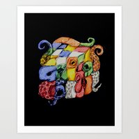 Rubtopus Art Print