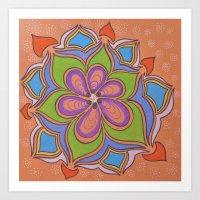Drops and Petals 4 Art Print