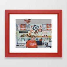 they like coke here Framed Art Print