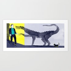 Things are not as scary as they seem Art Print