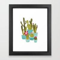 Cactus Pots Framed Art Print